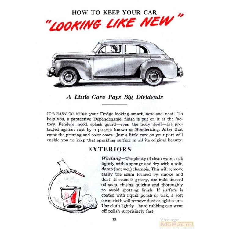 informafutbol.com 1937 Dodge Car Owners Manual 37 D5 Owner Guide ...